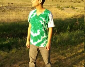 Green Swirl Tie Dye Medium Shirt