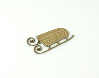 Wooden sledge, made of medium size 5cm