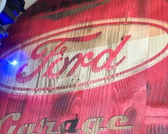 Custom Laser Engraved Garage Sign