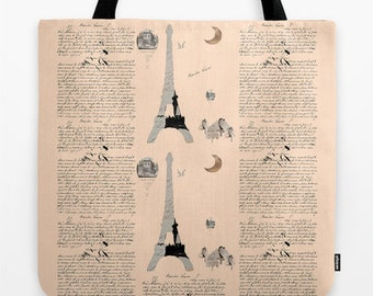 French Lessons Tote three sizes available