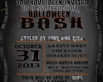 Dark Halloween Party Invitation