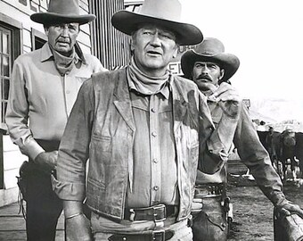John Wayne on the set of CHISUM (1970)