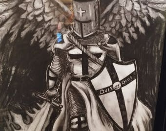 St. Michael the Archangel Charcoal
