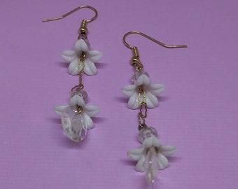 Flower Earrings, Romantic Earrings, Long Earrings, Fashion Jewelry *Free Shipping & Handling!