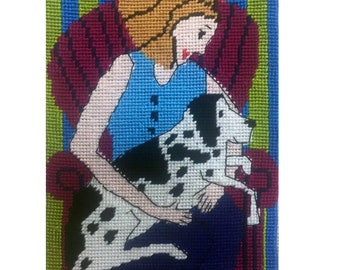 Madonna and Dog Needlepoint Kit