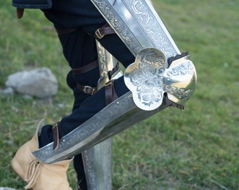 """Etched Leg Armor """"Knight of Fortune"""""""