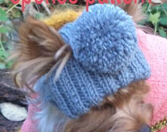 PATTERN Dog small dog hat  Hat Dog Hat Dog PATTERN Dog Clothes Hat Pet Hats dog pet hat hat yorkie knitted dog hat small dog hat dog sweater