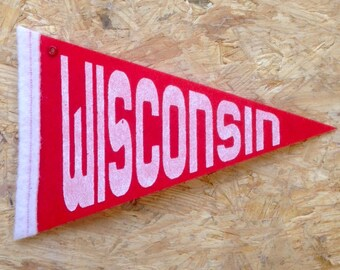 Wisconsin Pennant / ornament