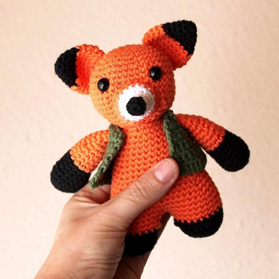 Fox - Animalius. Crochet Doll, Amigurumi Toy, Crocheting, Made to Order, Animal Crochet, Cute Children Gift, Nursery Doll,DIY, Art Crafts