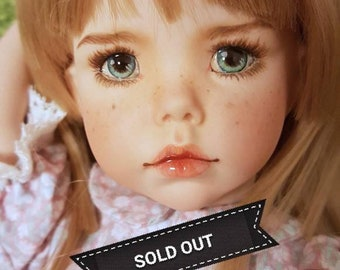"OOAK-repaint Dianna effner hilary 13"" doll LITTLE DARLING"