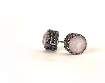 Pink earrings Swarovski stud earrings pink stud earrings Swarovski earrings gift for girlfriend mother mom