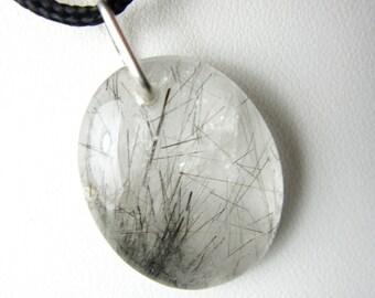 Black Rutilated quartz necklace / Black Rutilated quartz Pendant / healing crystals and stones / Crystal Necklace / Gems Crystal pendant