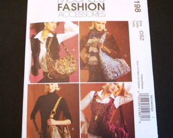 McCall's Pattern 5198 - Fashion Accessories Pattern - Sewing Pattern - Hobo Bag Pattern