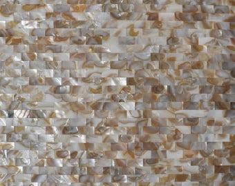 Groutless Subway Sea shell Mosaic MOP030 Mother of pearl kitchen backsplash bathroom wall tiles