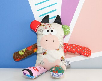 Cute stuffed animal, cow plushie
