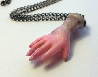 One Of A Kind Zombie Hand Necklace