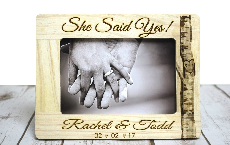 Sie sagte ja Verlobungsgeschenk personalisierte Engagement