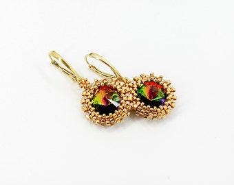 Dangle earrings Drop earrings Dainty earrings Gold earrings Anniversary gift for wife gift for Mother day gift for mom gift for sister gift