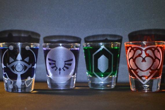 Legend of Zelda breath of the wild themed shot glass set