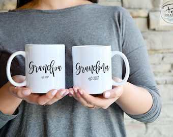 New Grandparents Gift - Grandparents Mug - New Grandma Gift - New Grandpa Gift - Father's Day - Father's Day Mug - custom coffee mug