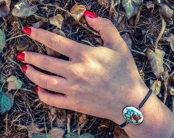 Authentic Handpainted Bracelet , Handmade Bracelet, Vintage Bracelet