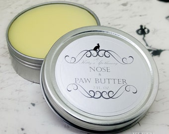 Dog and Cat Nose and Paw Pad Butter Holistic Pet Care/ Moisturizing Nose, Paw Pad Balm, and Dry Skin All Natural Grooming Supplies