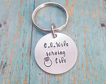 Corrections Officer Wife - CO Wife - Corrections Wife Gift - Anniversary - Wedding - Department of Corrections - C.O. - Keychain - Ring