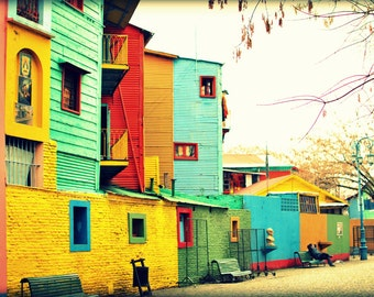 El Caminito, Buenos Aires Argentina. Bright and Bold Wall Decor