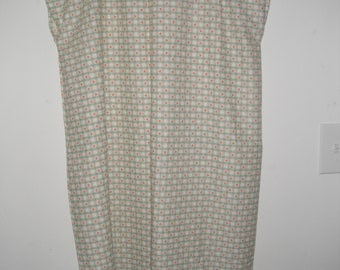 Hearts print cotton hospital gown