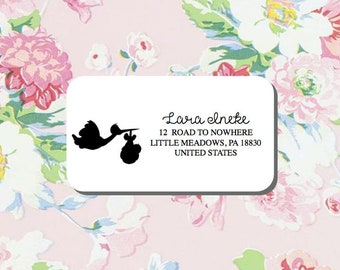 Baby Birth Return Address Label, Family Address Label, Save The Date Address, Wedding Labels, Custom Return Address Label