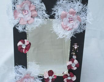floral shabby chic mirror