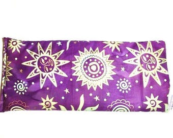 Hot Cold Pack, Herbal Pack, Heat Wrap, Organic, Flax Seed, Microwave Therapy, Heating Pad, Warming Pillow, Herbal, Ice Pack,Purple Gold Sun