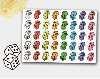 Dices Stickers,Game Night Stickers, Planner Stickers