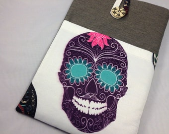 "11 inch Laptop Case / 11 inch MacBook Air Cover / 11 MacBook Air Case /Macbook case/ New 12"" inch MacBook / Protective / Padded Case-Skull"