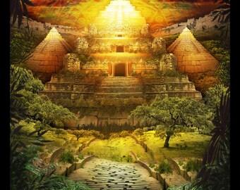 Lost Lands of Imagination - El Dorado - Art Print by Brian Giberson