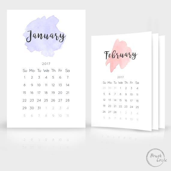 2017 2018 Kalendervorlage 12 x 18 Foto einfach