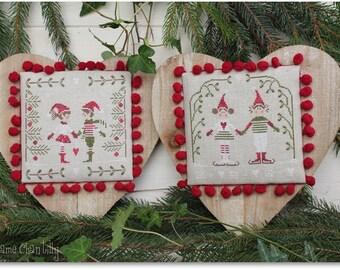 Christmas vith Elves II - Cross stitch Chart
