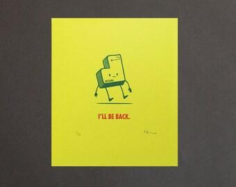 Return (I'll be Back) Computer Key Gocco Print