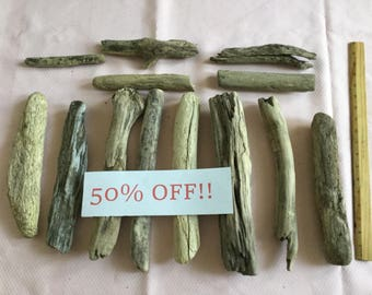 Driftwood Sale !! 50% off! 13 pieces of Lake Michigan driftwood