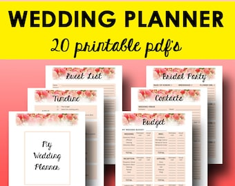 Wedding planner printable wedding planning pages do it wedding planner printable wedding planner book printable planning binder printables planning checklist book letter size instant download solutioingenieria Gallery