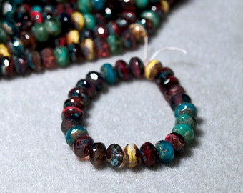 Picasso Mix-  thru-cut Czech glass Beads