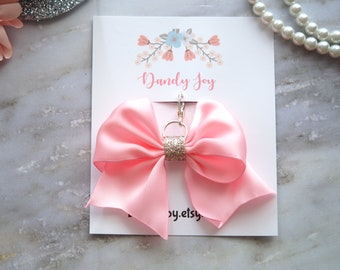 Light Pink Ribbon Bow Charm for Planner