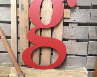 """fArMhouse Decor   Fixer Upper style   Big wooden lower case letter g   wall art   wall hanging   36"""" or 42""""   All Letters Avail a - z"""