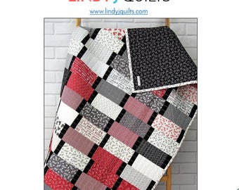 Downloadable PDF Quilt Pattern - Modern Quilt Pattern - Beginner Quilt Pattern