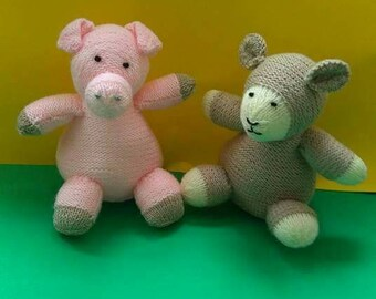Hand knitted toys sheep