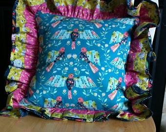 Festive Birds Pillow Cover