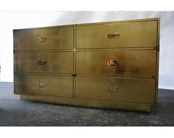BUILT2ORDER // Custom Made Gold or Silver Leaf Campaign Dressers & Furniture