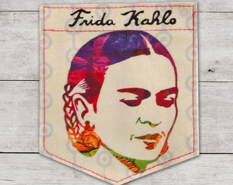 Flowers & Frida Kahlo Sticky Pocket Patches - Patch for Tshirts
