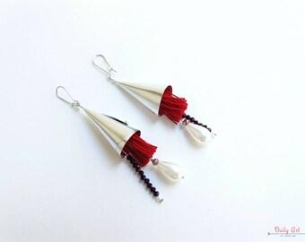 Artisan, flower inspired, bohemian style, boho earrings