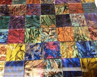 PATCHWORK QUILT MIX Van Gogh Art Glass Mosaic Tile Color Sampler B15